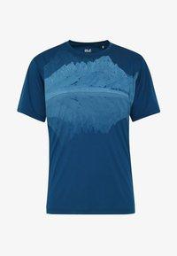 Jack Wolfskin - PEAK GRAPHIC - T-shirt z nadrukiem - dark indigo - 4