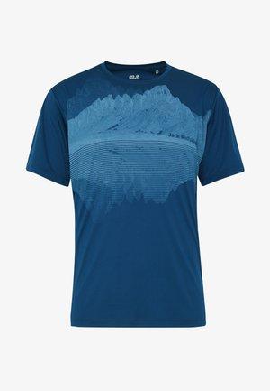 PEAK GRAPHIC - Print T-shirt - dark indigo
