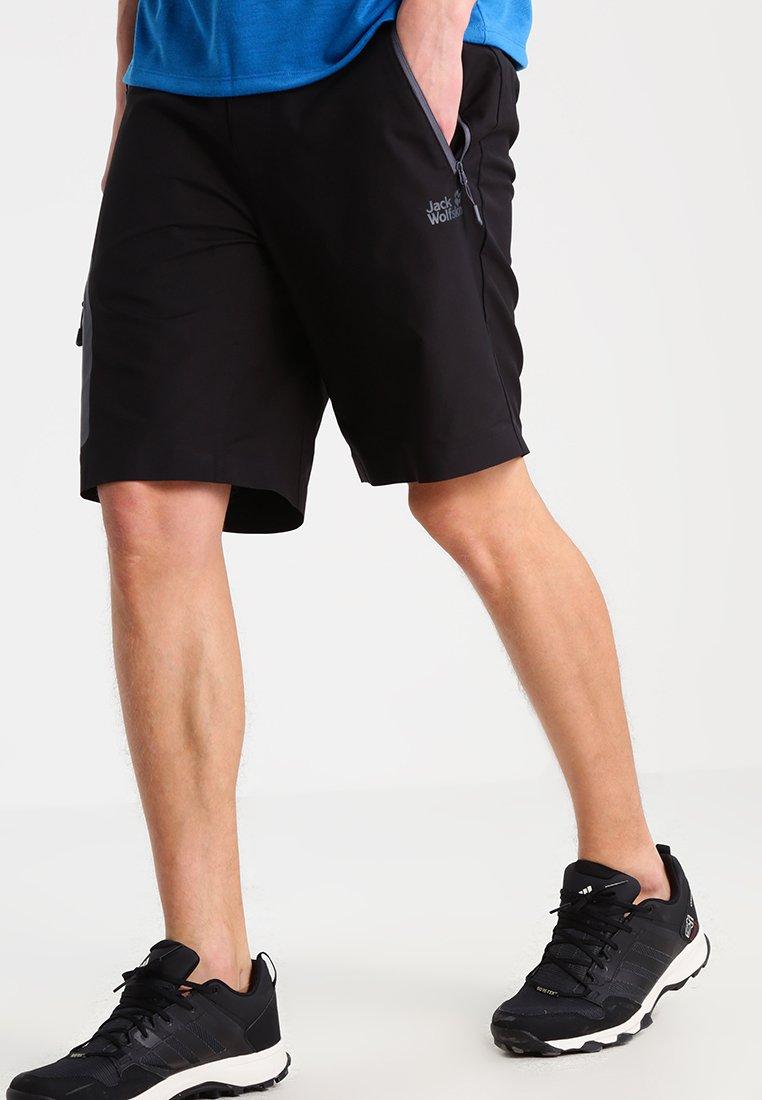 Jack Wolfskin - ACTIVE - Shorts outdoor - black