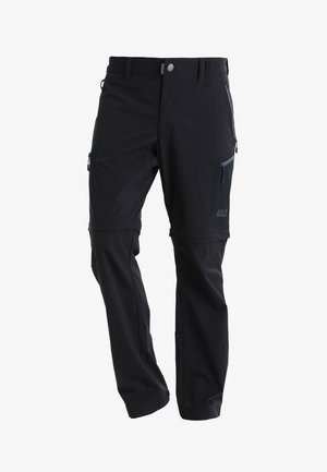ACTIVATE LIGHT ZIP OFF - Stoffhose - black