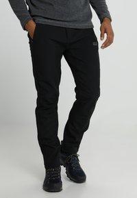 Jack Wolfskin - ZENON SOFTSHELL PANTS - Pantalons outdoor - black - 0