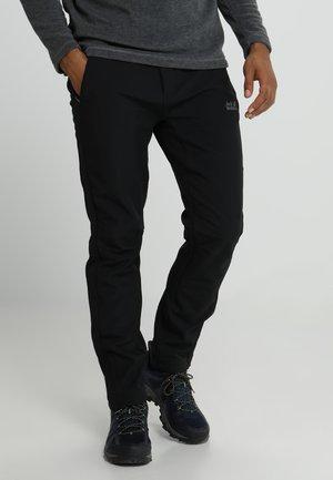 ZENON SOFTSHELL PANTS - Outdoorové kalhoty - black