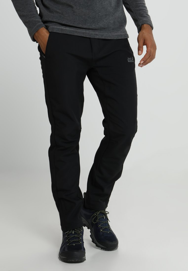 Jack Wolfskin - ZENON SOFTSHELL PANTS - Pantalons outdoor - black