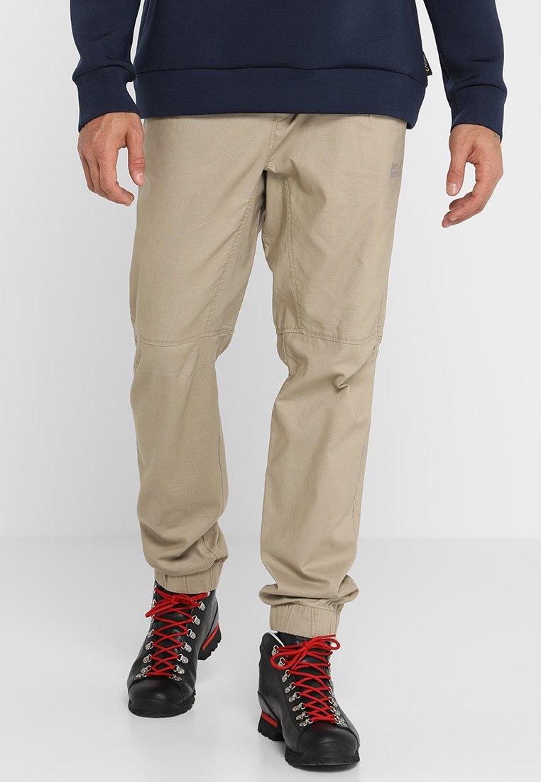Jack Wolfskin - BLUE LAKE CUFFED PANTS  - Trousers - sand dune