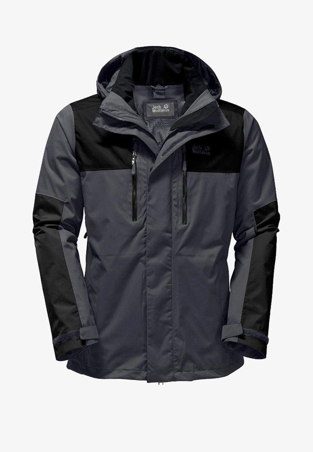JASPER FLEX MEN - Hardshell jacket - dunkelgrau