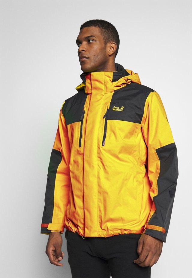 JASPER FLEX MEN - Hardshell jacket - dark sulphur