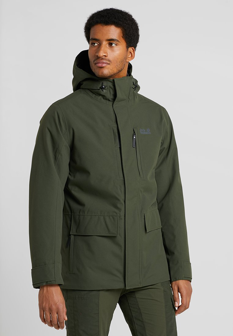 Jack Wolfskin - WEST JACKET - Kurtka Outdoor - dark moss