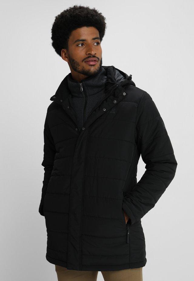 SVALBARD COAT MEN - Dunkåpe / -frakk - black