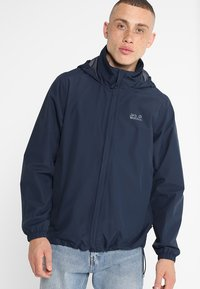 Jack Wolfskin - STORMY POINT JACKET  - Impermeable - night blue - 0