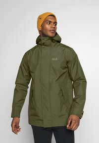 Jack Wolfskin - CAPE POINT JACKET - Hardshelljacka - dark moss - 0