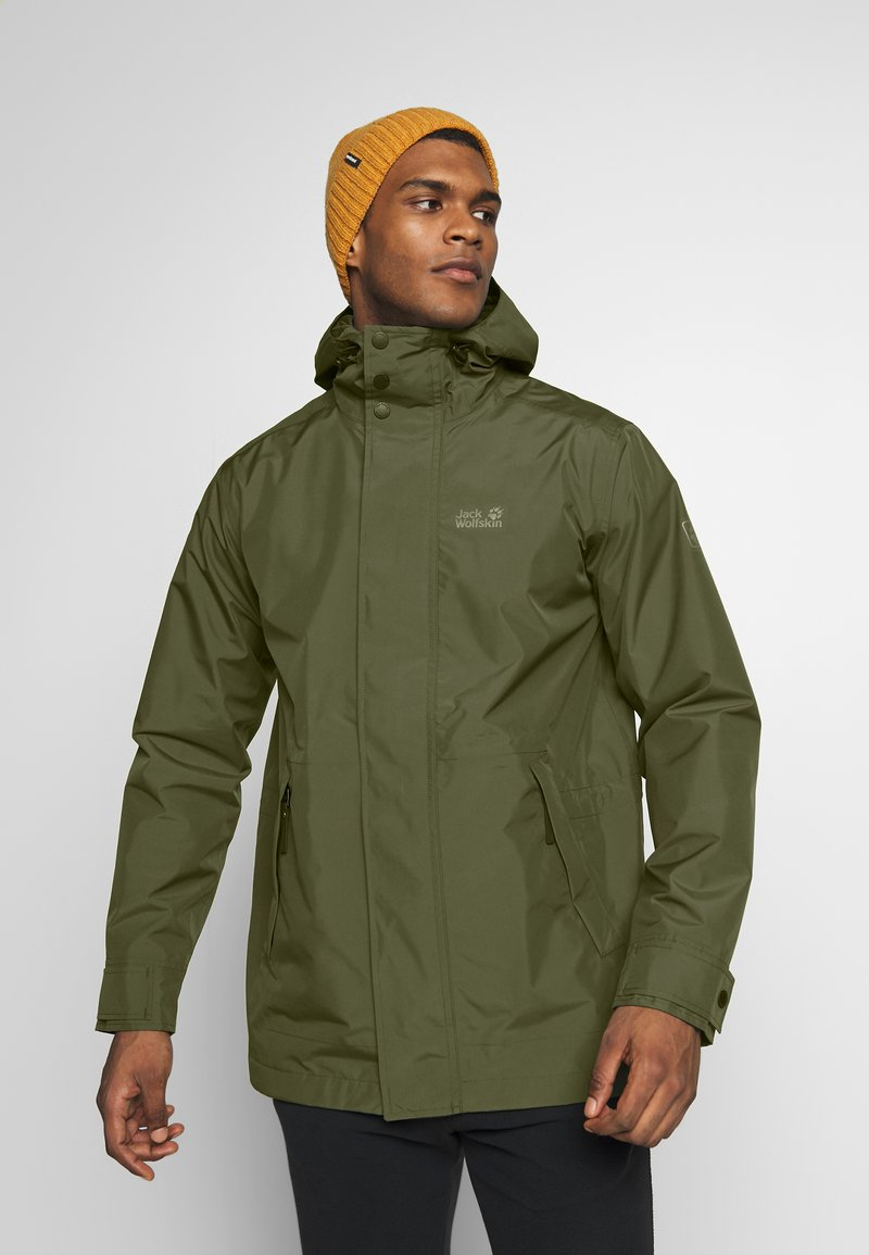 Jack Wolfskin - CAPE POINT JACKET - Hardshelljacka - dark moss
