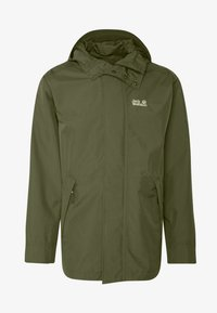 Jack Wolfskin - CAPE POINT JACKET - Hardshelljacka - dark moss - 4