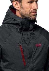 Jack Wolfskin - Snowboard jacket - dark grey - 2