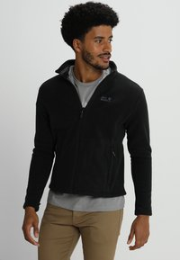 Jack Wolfskin - MOONRISE JACKET MEN - Kurtka z polaru - black - 0