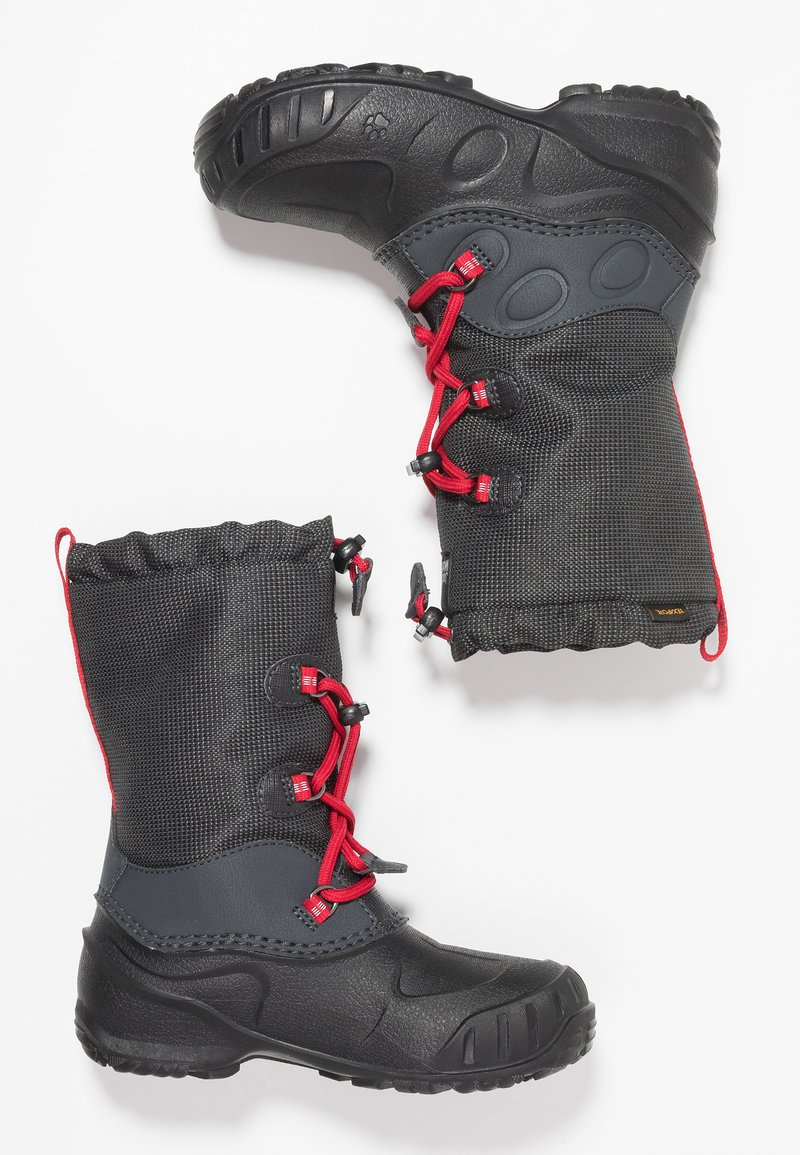 Jack Wolfskin - ICELAND TEXAPORE HIGH - Winter boots - black/red
