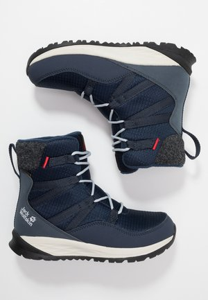 POLAR BEAR TEXAPORE HIGH - Snowboot/Winterstiefel - dark blue/offwhite