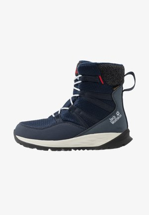 POLAR BEAR TEXAPORE HIGH - Talvisaappaat - dark blue/offwhite