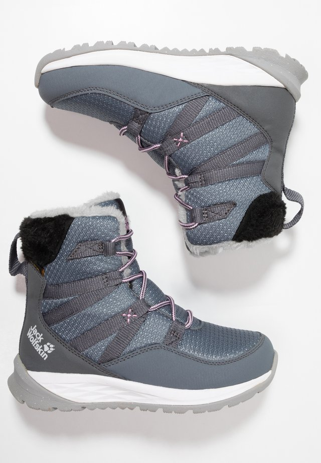 POLAR WOLF TEXAPORE HIGH - Botas para la nieve - pebble grey/offwhite