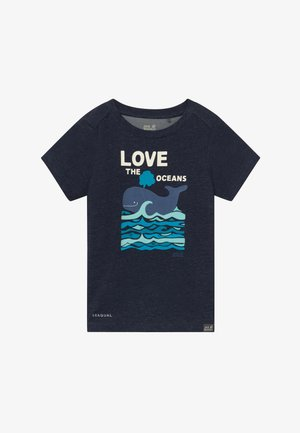 OCEAN KIDS - Print T-shirt - night blue