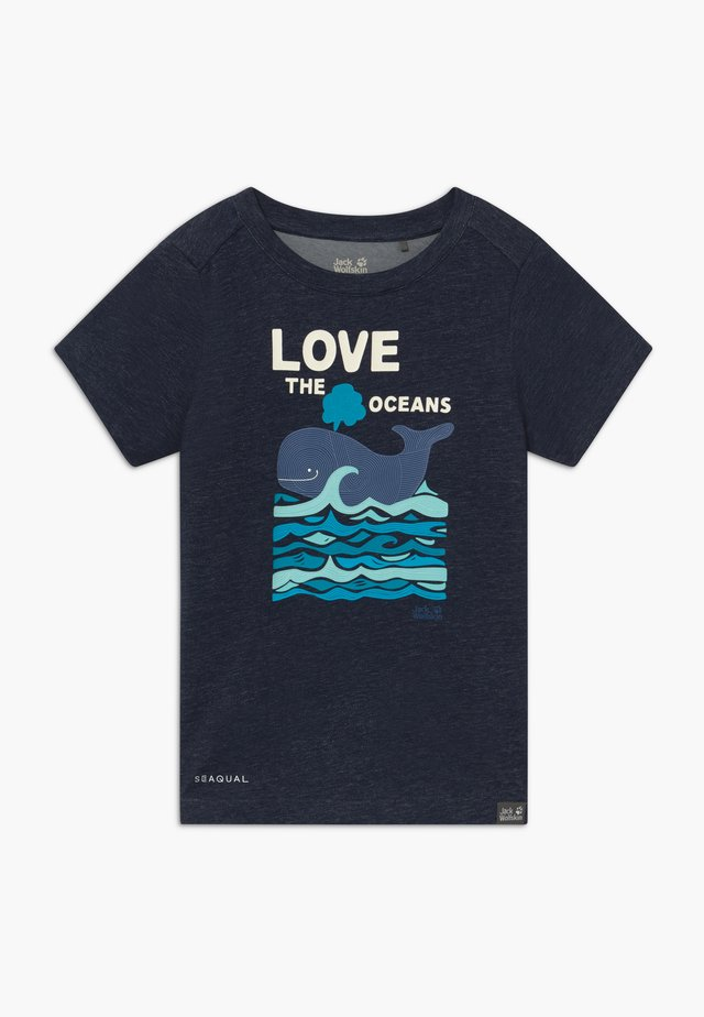 OCEAN KIDS - Printtipaita - night blue