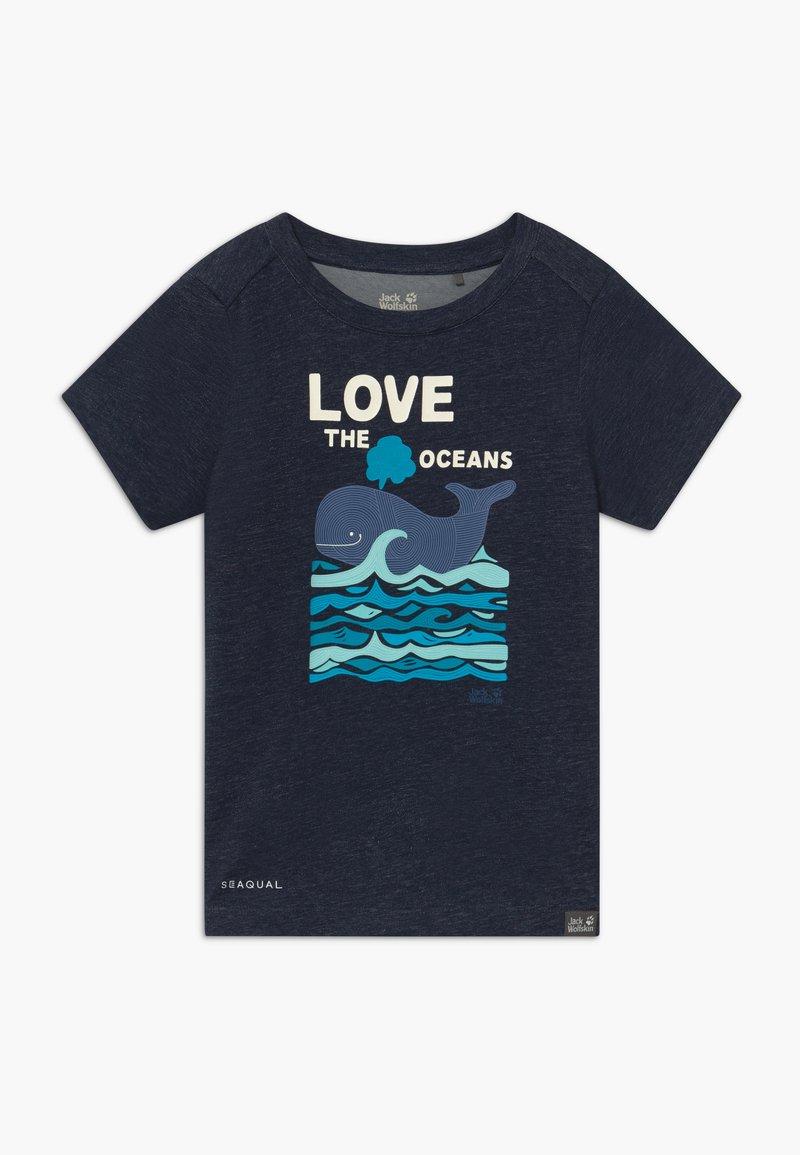 Jack Wolfskin - OCEAN KIDS - Camiseta estampada - night blue
