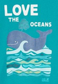 Jack Wolfskin - OCEAN KIDS - T-shirt z nadrukiem - green ocean - 2