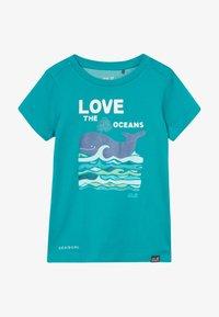 Jack Wolfskin - OCEAN KIDS - T-shirt z nadrukiem - green ocean - 3