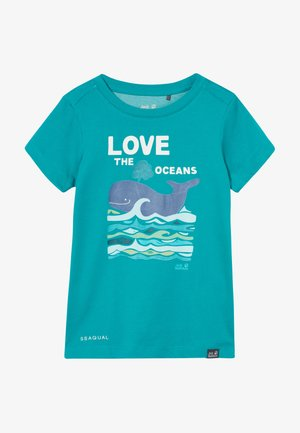 OCEAN KIDS - T-shirt z nadrukiem - green ocean