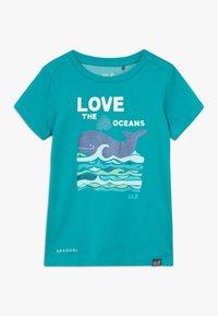 Jack Wolfskin - OCEAN KIDS - T-shirt z nadrukiem - green ocean - 0