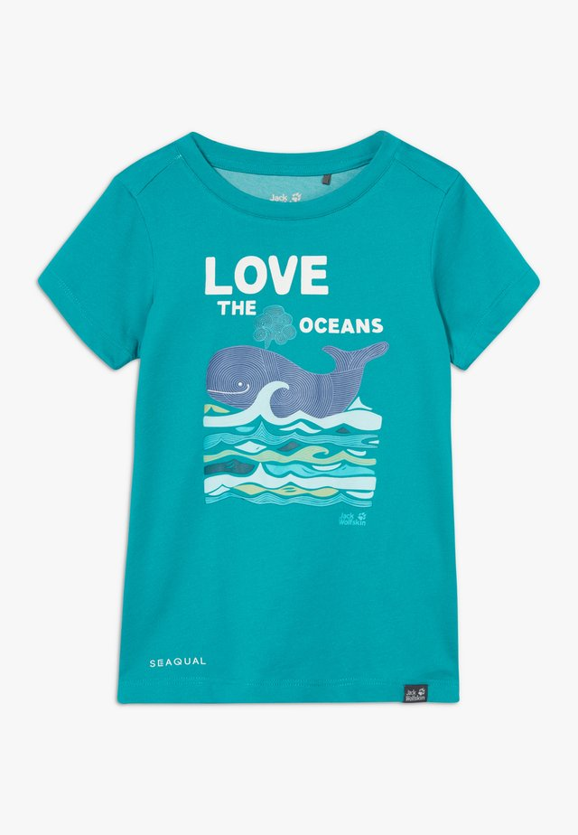 OCEAN KIDS - Camiseta estampada - green ocean