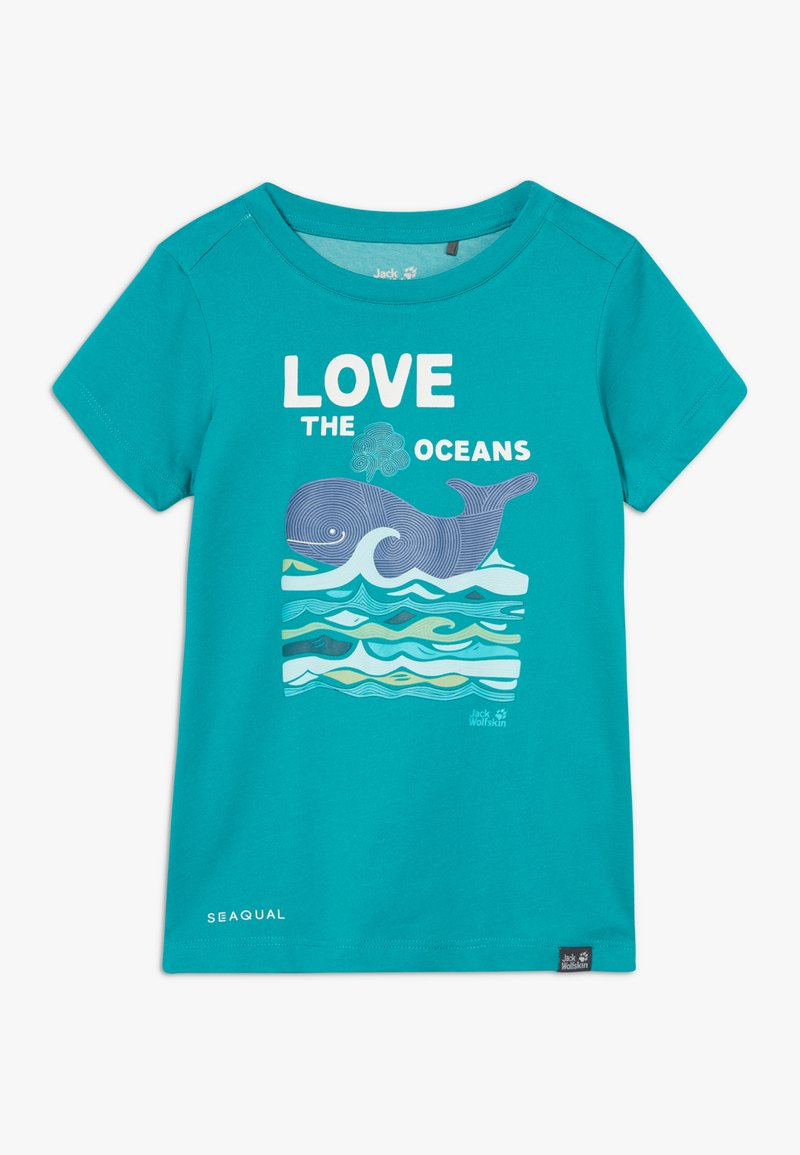 Jack Wolfskin - OCEAN KIDS - T-shirt z nadrukiem - green ocean