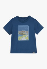Jack Wolfskin - TREASURE HUNTER KIDS - Camiseta estampada - dark indigo - 0