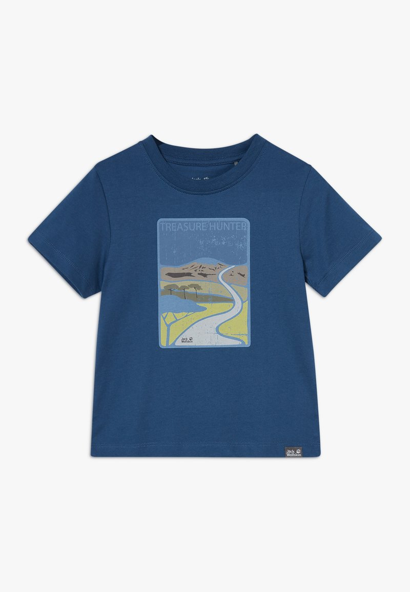 Jack Wolfskin - TREASURE HUNTER KIDS - Camiseta estampada - dark indigo