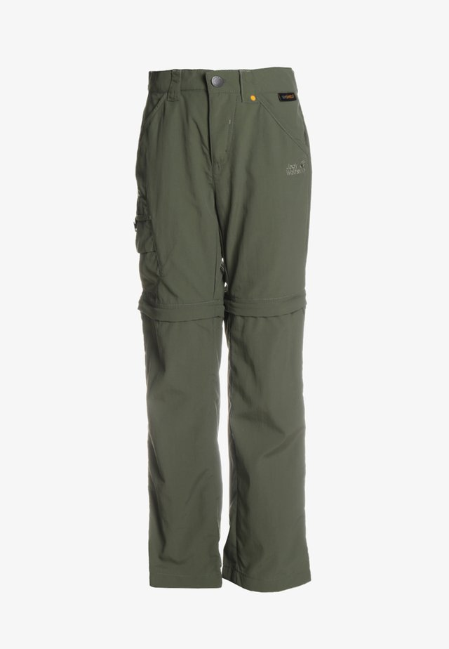 SAFARI ZIP OFF PANTS 2-IN-1 - Pantalones montañeros largos - woodland green