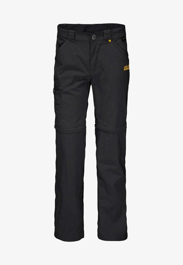 SAFARI ZIP OFF PANTS 2-IN-1 - Outdoor trousers - black