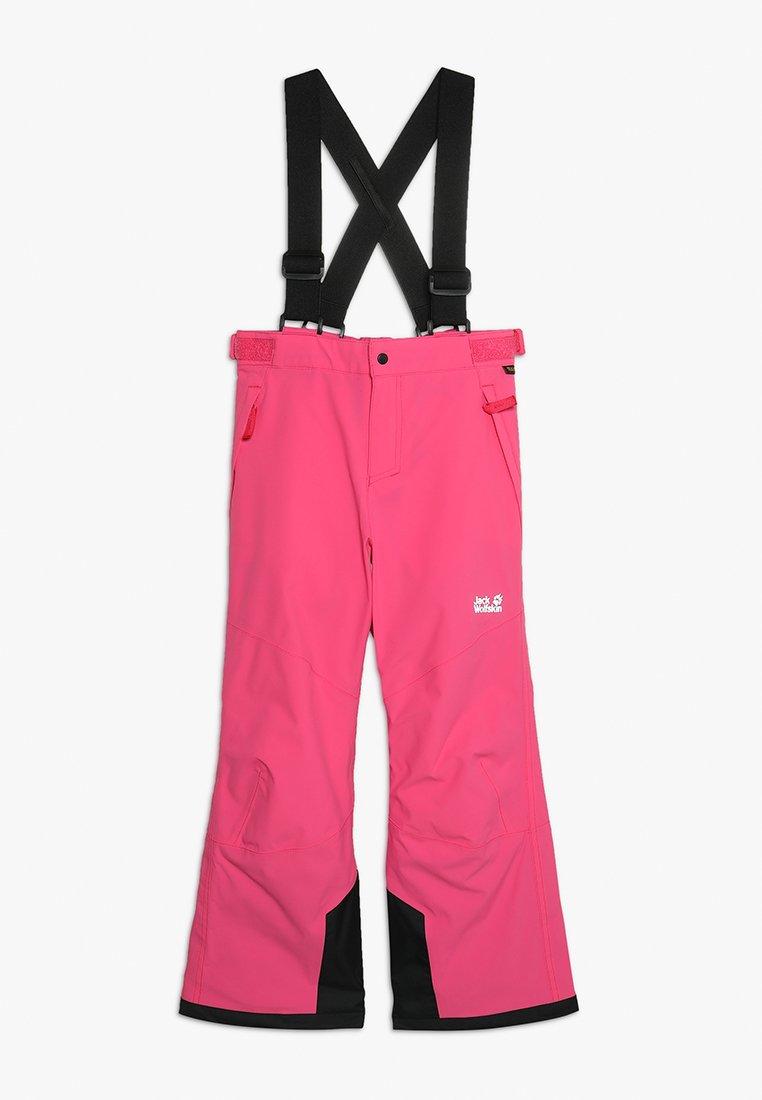 Jack Wolfskin - POWDER MOUNTAIN PANTS KIDS - Täckbyxor - pink fuchsia