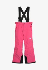 Jack Wolfskin - POWDER MOUNTAIN PANTS KIDS - Täckbyxor - pink fuchsia - 5