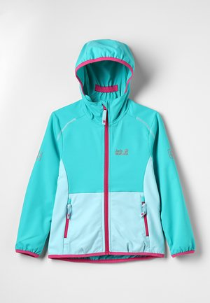 TURBULENCE GIRLS - Chaqueta softshell - aquamarine