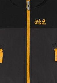 Jack Wolfskin - FOURWINDS JACKET KIDS - Softshellová bunda - phantom - 3