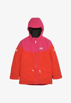 POWDER MOUNTAIN JACKET GIRLS - Outdoor jacket - orange/coral