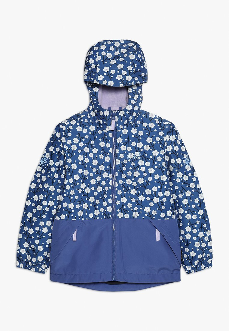 Jack Wolfskin - SNOWY DAYS PRINT JACKET KIDS - Kurtka Outdoor - blueberry all over