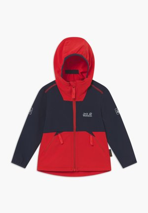 TURBULENCE BOYS - Softshelljacke - peak red