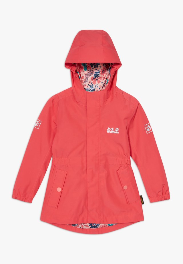 HIDDEN FALLS GIRLS - Chaqueta Hard shell - tulip red