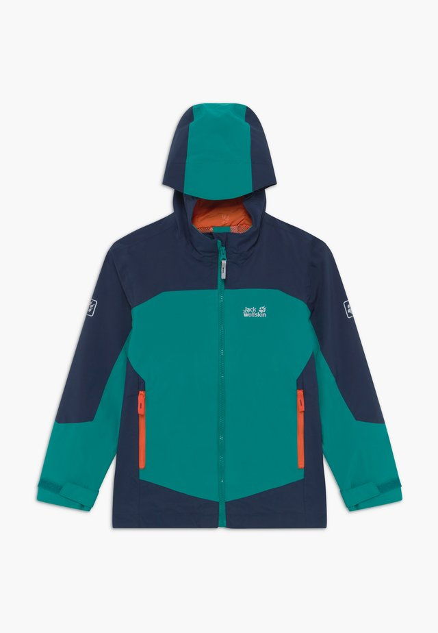 ROPI JACKET BOYS - Chaqueta Hard shell - green ocean