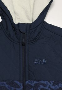 Jack Wolfskin - NORDIC HOODED JACKET KIDS - Fleecejas - night blue - 4