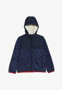 Jack Wolfskin - NORDIC HOODED JACKET KIDS - Fleecejas - night blue - 3