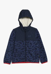 Jack Wolfskin - NORDIC HOODED JACKET KIDS - Fleecejas - night blue - 0