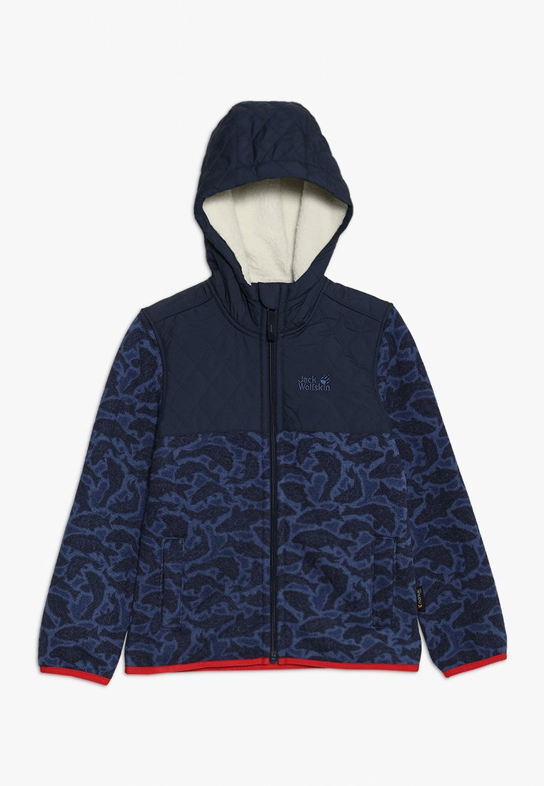 Jack Wolfskin - NORDIC HOODED JACKET KIDS - Fleecejas - night blue