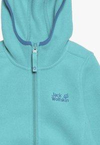 Jack Wolfskin - BAKSMALLA HOODED JACKET KIDS - Forro polar - aquamarine - 3