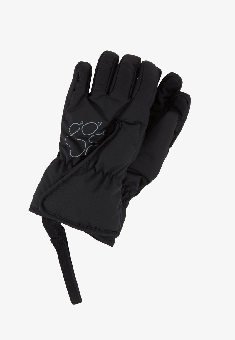 Jack Wolfskin - EASY ENTRY GLOVE KIDS - Fingerhandschuh - black
